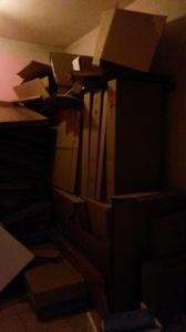 Besagter Müllraum, könnte mal geleert werden (Deckenhöhe ist höher als normal)